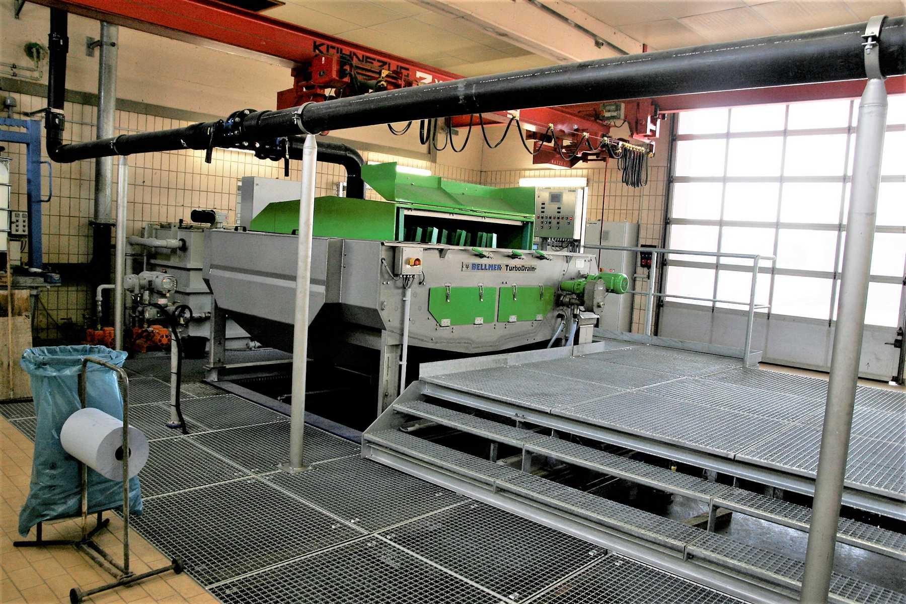 Maschinelle Eindickung Zentralklärwerk Lübeck (600.000 EW)