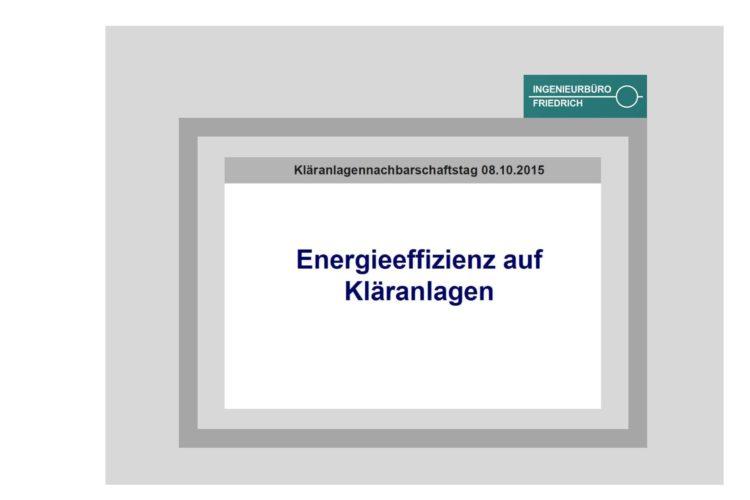 Energieeffizienz auf Kläranlagen