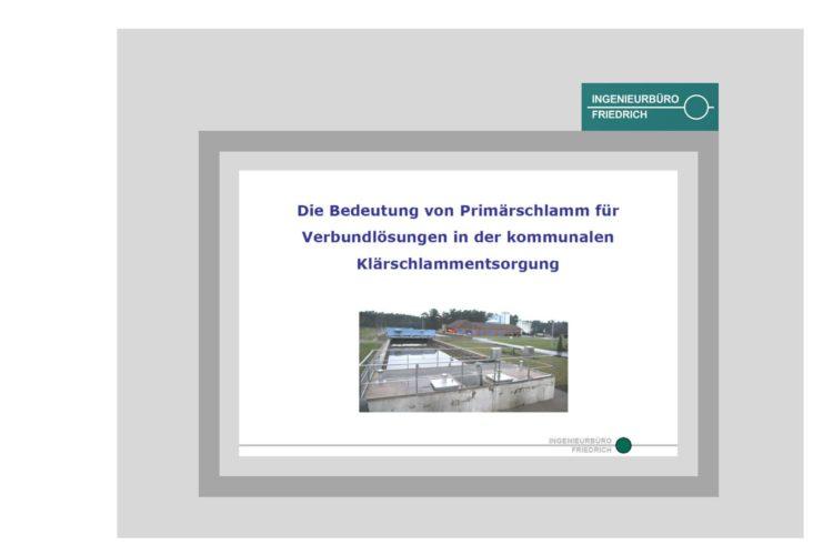 Die Bedeutung von Primärschlamm für Verbundlösung in der kommunalen Klärschlammentsorgung
