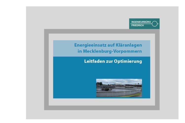 Energieeinsatz auf Kläranlage in Mecklenburg-Vorpommern - Leitfaden zur Optimierung