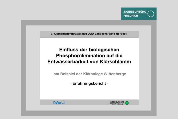 Einfluss der biologischen Phosphorelimination auf die Entwässerbarkeit von Klärschlamm